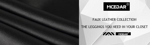 Fuax leather leggings for women