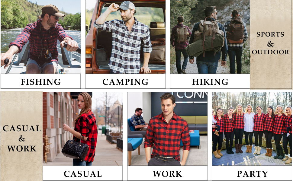 PLAID FLANNEL SHIRTS FOR ALL OCCAIONS