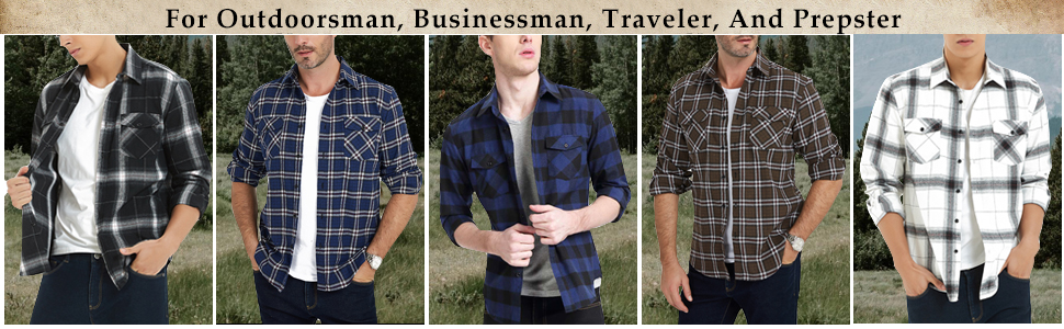 PLAID FLANNEL SHIRTS FOR MEN