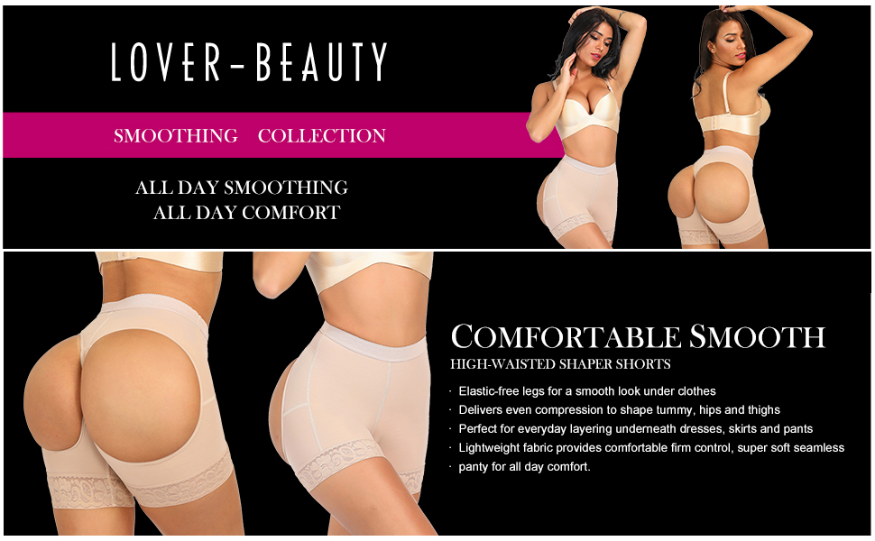 1893efb726332 Lover-Beauty Women s Butt Lifter Body Shaper Tummy Control Control Panties  Shaperwear Boyshorts