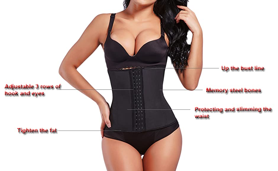 2af809e523 Lover-Beauty Women s Latex Underbust Corset Waist Training Cincher 9 ...