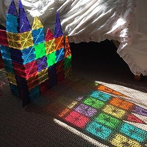 Amazon.com: Magna-Tiles Clear Colors 32 Piece Set: Industrial ...