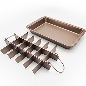 Amazon Com Non Stick Brownie Pans With Dividers Diveded