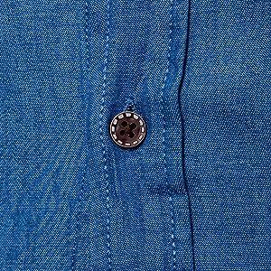 Amazon.com: LOCALMODE Camisa de vestir casual para hombre ...