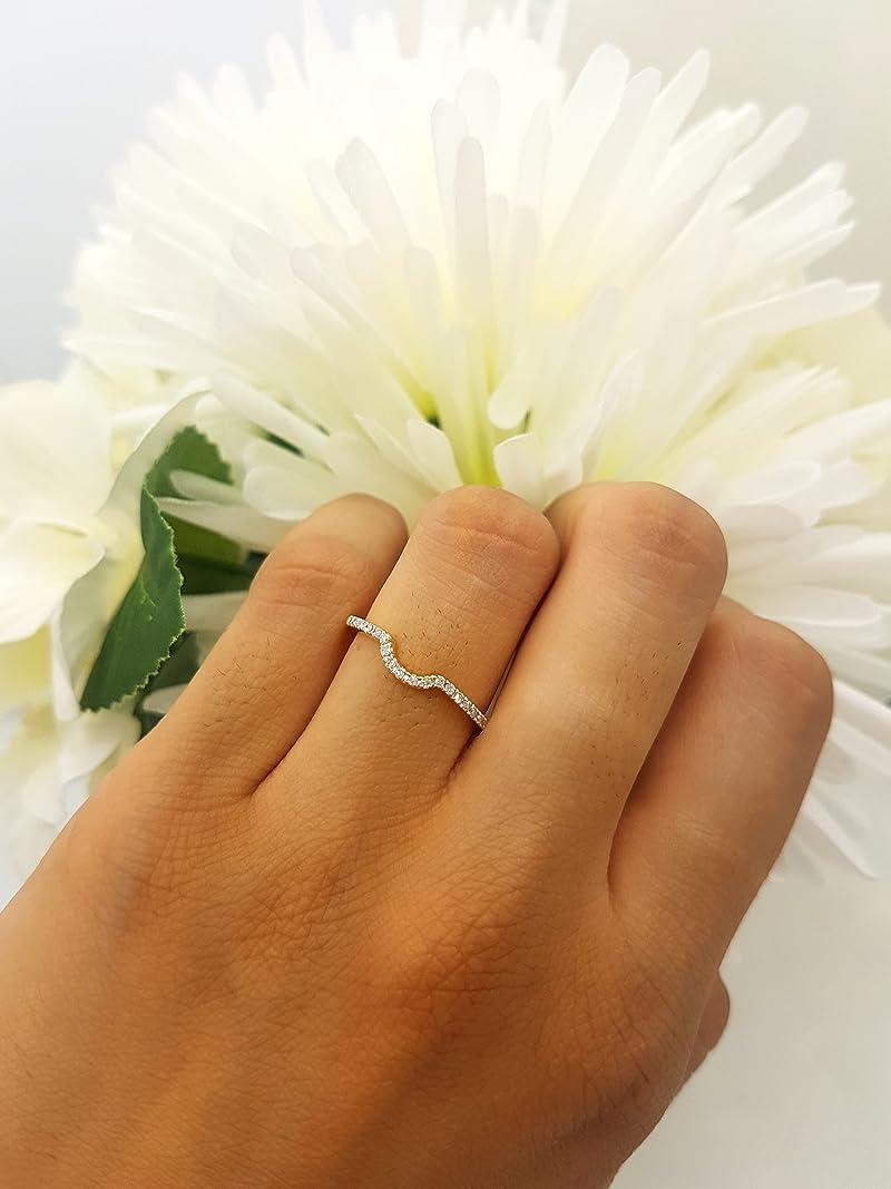 14K Gold Round White Diamond Ladies Wedding Band Guard Ring ctw Dazzlingrock Collection 0.11 Carat