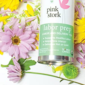Pink Stork Labor Prep: Sweet Floral Red Raspberry Pregnancy Tea, 30 Cups,  USDA Organic