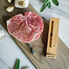 meater+ meater plus wireless smart meat thermometer wifi bbq kitchen oven grill digital pork chop
