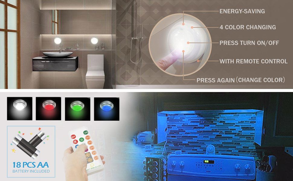 Amazon Com Bwl Wireless Led Closet Lights Rgb Color