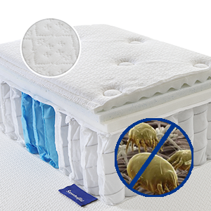 Comfort hybrid system-Gel memory foam & packaged springs