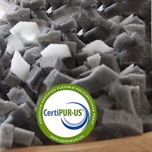 Rest Health with CertiPUR-US Certified bamboo charcoal memory foam & high density foam