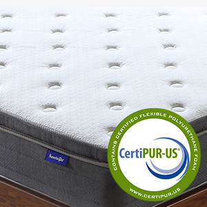 CertiPUR-US Certified Hypoallergenic foam for safety and health