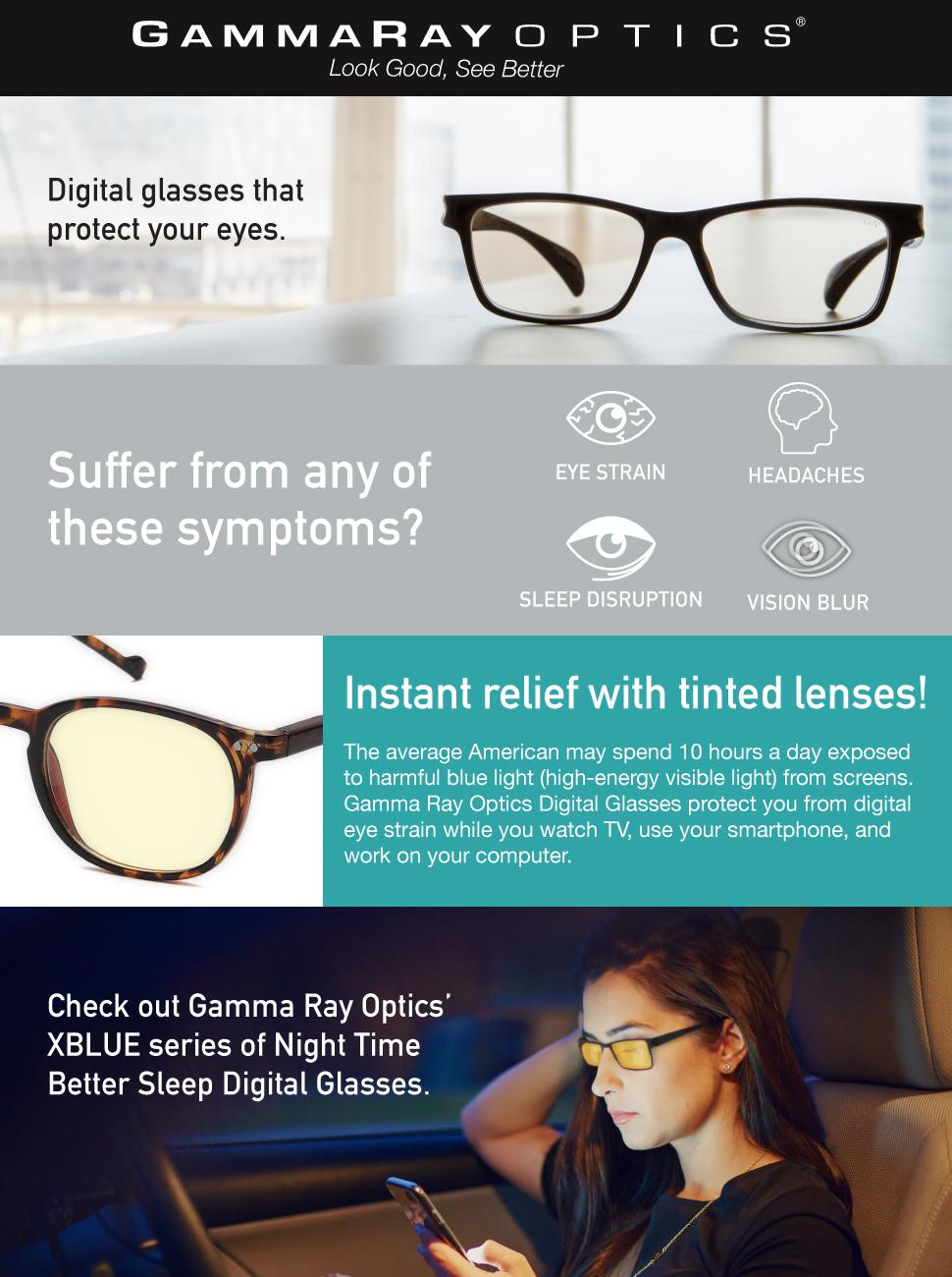 83b0e38c228 Amazon.com  Gamma RAY 007 Harmful Blue Light Eye Strain Protection ...