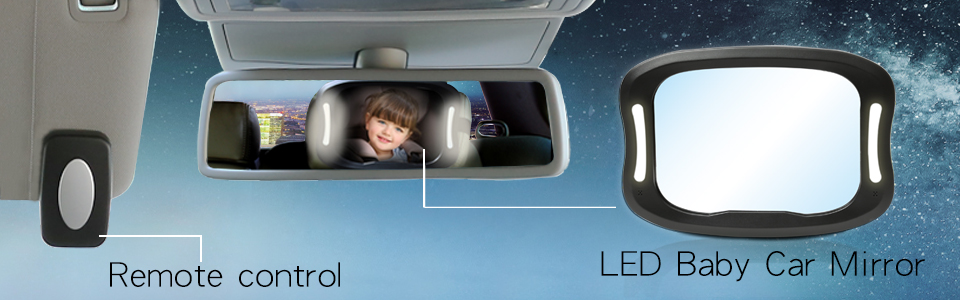 LED Car Back Seat Mirror By JOYREN