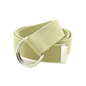 Apparel Accessories Simple Solid Cotton Canvas All-match Waist Straps Men & Women Canvas Belt D Shaped Double Ring Buckle Waistband Fashion Bright In Colour