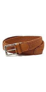 Leather Belt Strap with Smooth Grain Finish 1.5 Wide with Snaps
