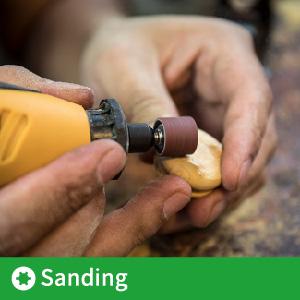 sanding wood using rotary tool