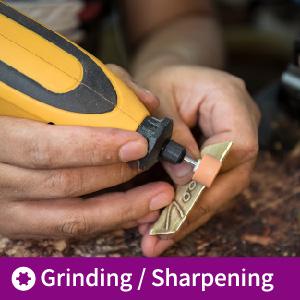 removing burs using rotary tool