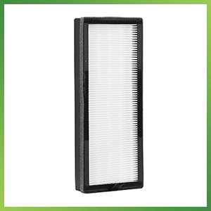 A HEPA filter enclosed by a green border