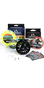 avid fly reel with line