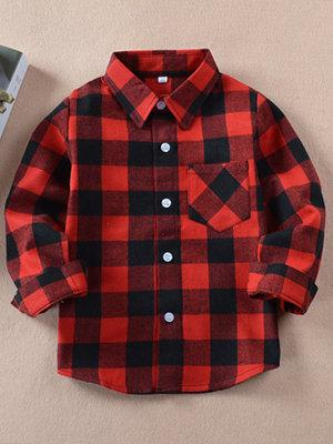 red black plaid shirt