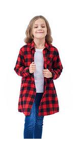 girls plaid shirt dress