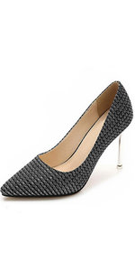 black glitter high heel
