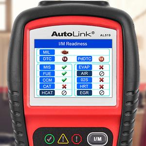 Autel AL519 OBDII Scanner Code Reader IM Readiness Status