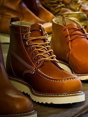 5e127fed917 Golden Fox Steel Toe Men's Lightweight Work Boots Moc Toe Boot ...