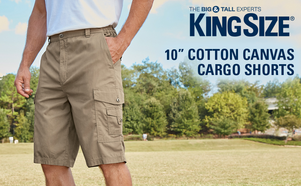 43c788790c Our COTTON CANVAS CARGO SHORTS feature a side-elastic waist for a custom  feeling fit every time. The cotton canvas construction is durable yet