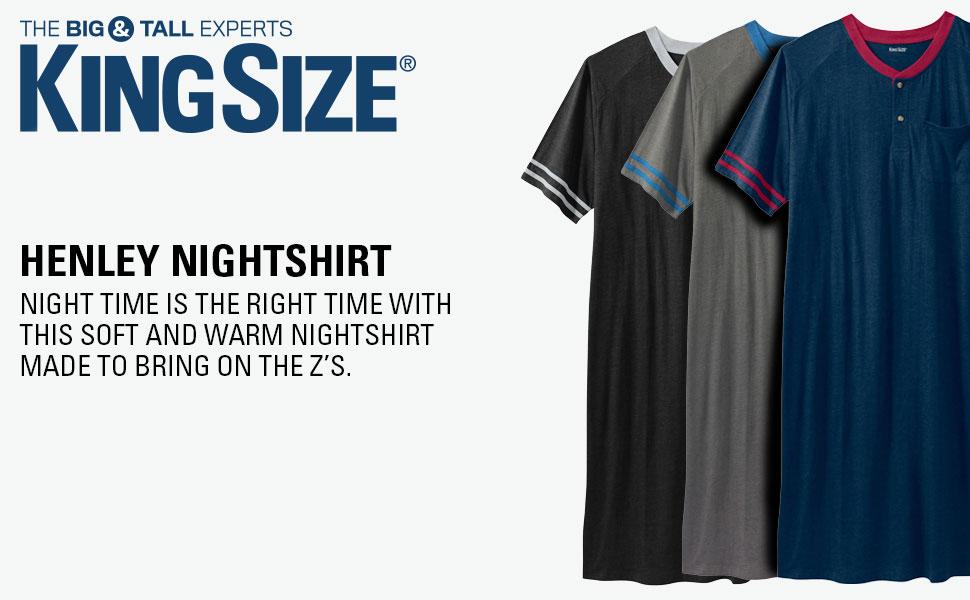 KingSize Mens Big /& Tall Novelty Nightshirt
