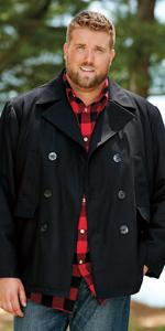 70a8be5b22d Big   Tall Wool Combat Jacket · Big   Tall Wool Blend Inset Jacket · Big  and Tall Wool Peacoat. Length ...