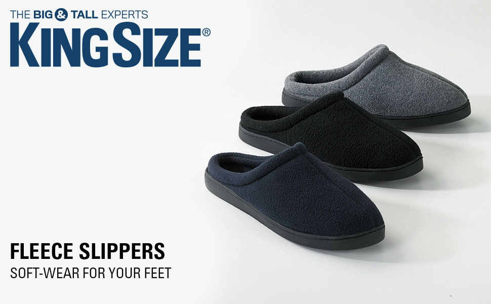 e4fc656bace09 Amazon.com | KingSize Men's Big & Tall Fleece Clog Slippers | Slippers