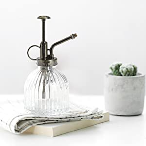 Nattol Vintage Style Clear Glass Bottle Sprayer