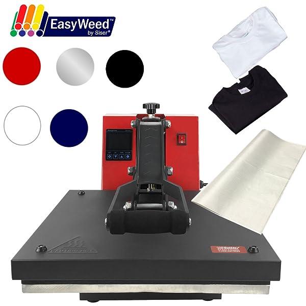 15x15 USCutter Digital Heat Press TShirts /& Siser EasyWeed Heat Transfer Vinyl