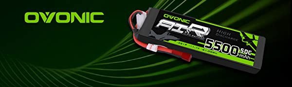 Ovonic 5500mah 50C 3S 11.1V lipo battery for FPV Rc Car Racing