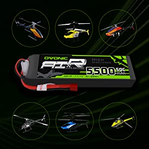 Ovonic 5500mah 3S helicopter Lipo battery