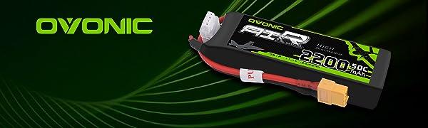 Ovonic 2200mah 50C 3S 11.1V lipo battery for FPV Racing
