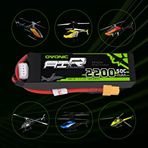 Ovonic 2200mah 3S helicopter Lipo battery