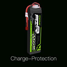 Ovonic lipo battery charge protection