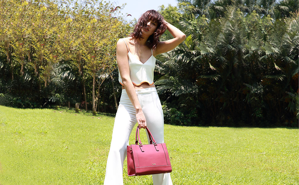 Amazon.com: kadell Womens mate de gran capacidad Pu Leather ...