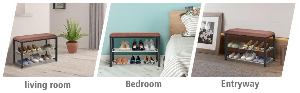 excellent wholesale shoe racks high capacity living room furniture   Amazon.com: Giantex 2 Tier Entryway Storage Bench w/Shoe ...