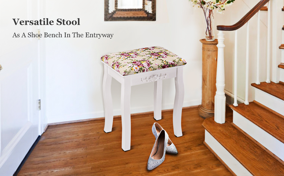 As A Shoe Bench In The Entryway