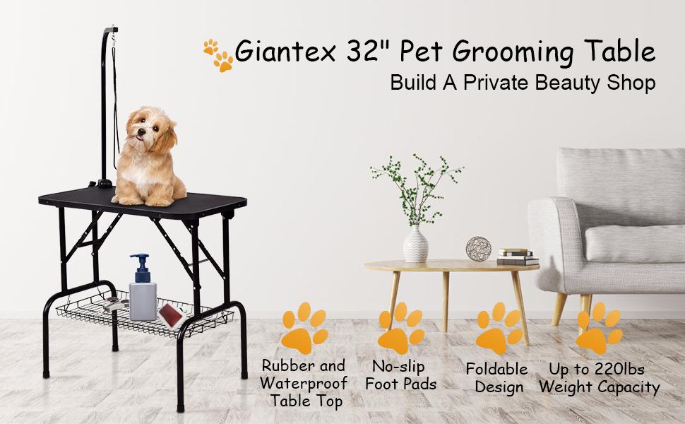 """Giantex 32"""" Pet Grooming Table"""
