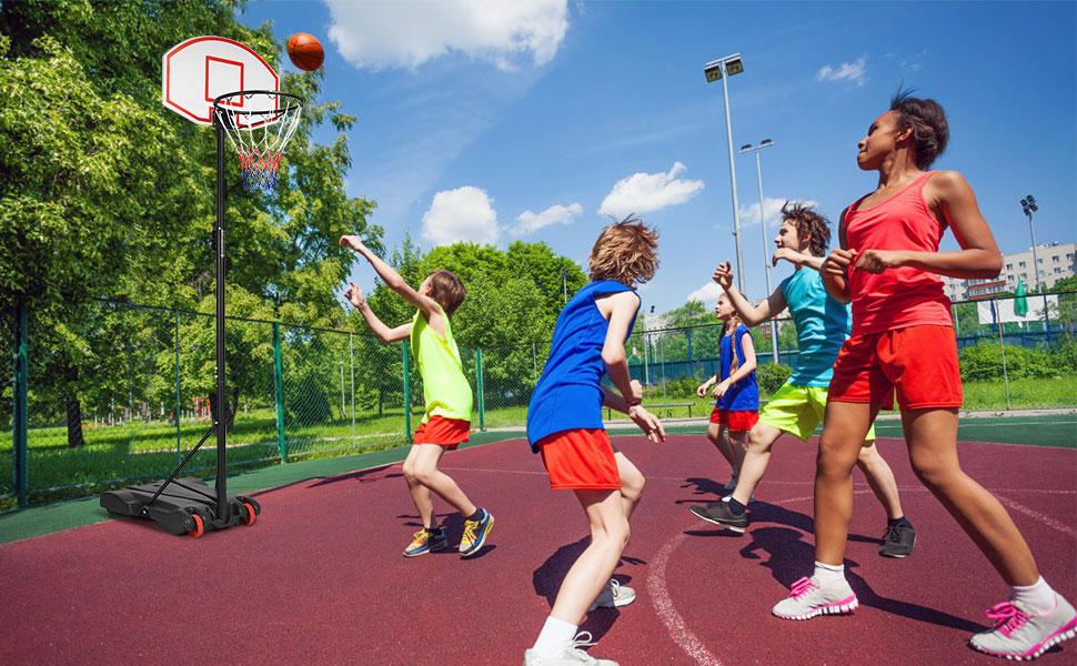 Amazon.com: Giantex - Sistema de canasta de baloncesto ...