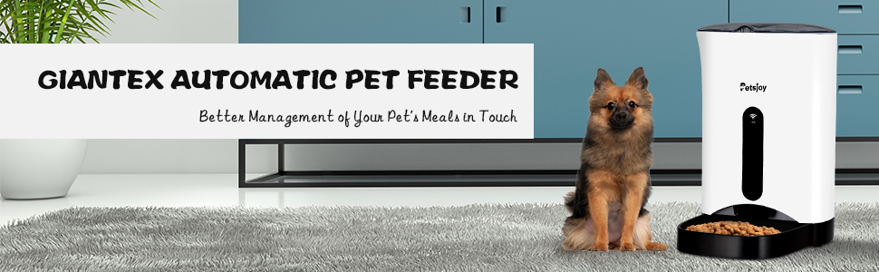 Giantex Automatic Pet Feeder Food Dispenser for Dogs, Cats, 4.3L Large Capacity, Wi-Fi Enabled App for iPhone and Android, Distribution Alarms, ...