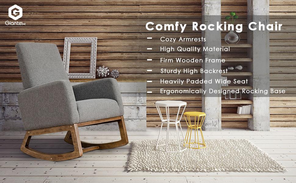 Amazon.com: Giantex - Sillón tapizado para balancín con ...