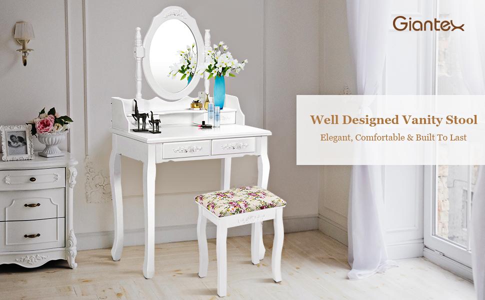 Giantex Well Designed Vanity Stool