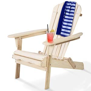 Amazon.com: Giantex Silla plegable de madera Adirondack para ...