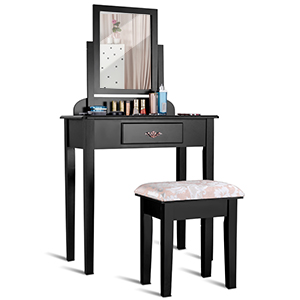 Vanity Tables with Stools and Rotatable Mirror