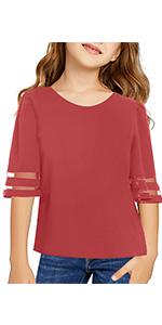 girls bell sleeve blouse